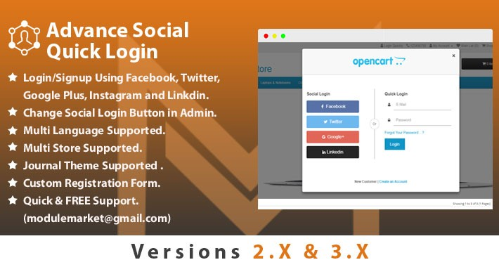 Advance Social Quick Login/ Signup