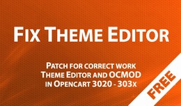 Fix Theme Editor - patch for correct work Theme ..