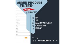 Admin Product Filter + Editor