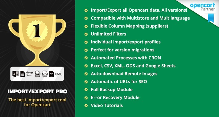 Import/Export PRO - The most complete importer for Opencart
