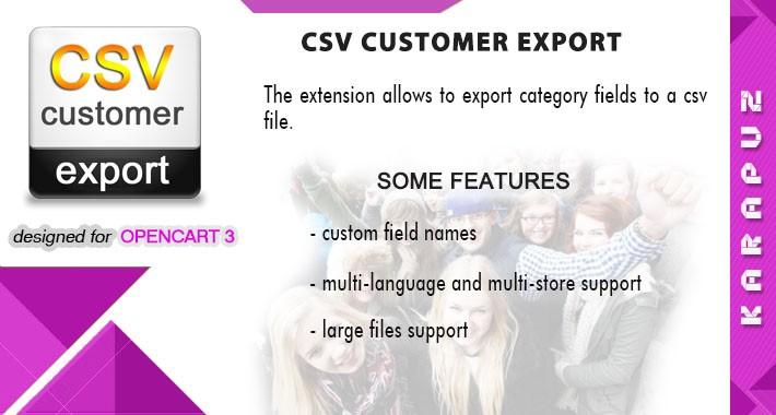CSV Customer Export (Opencart 3)