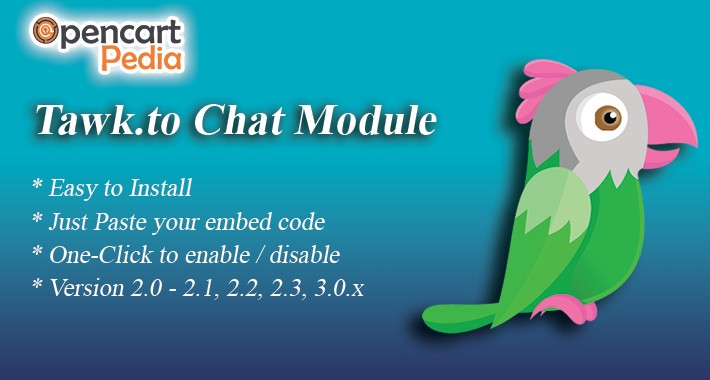 Opencart Tawk.to Chat Module