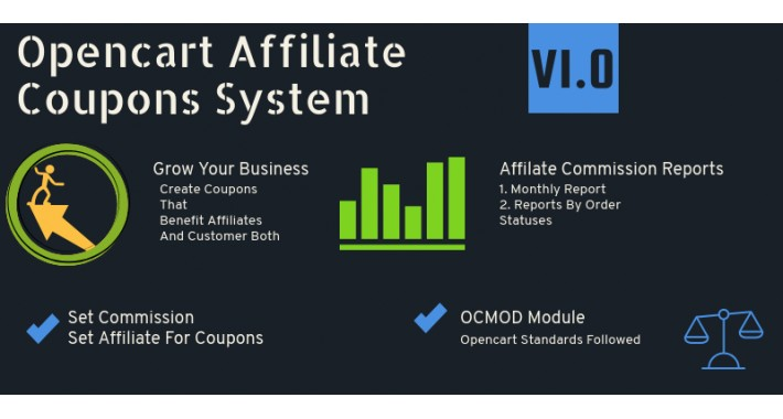 Opencart Affiliate Coupon or promo code System