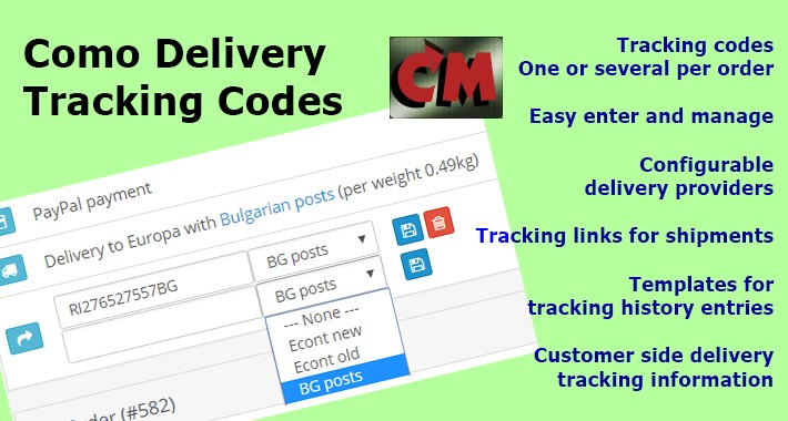 Como Delivery Tracking Codes