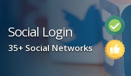 Social Login for OpenCart, 35+ Social Networks
