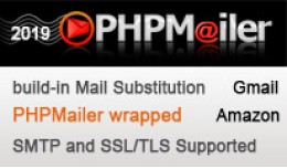 build-in Mail substitution with PHPMailer wrapped