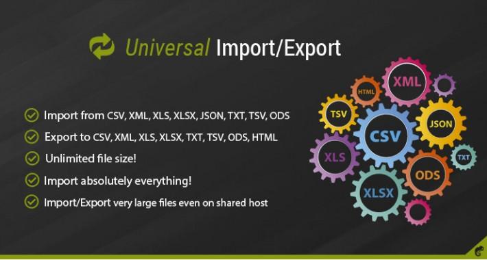 Universal Import/Export Pro