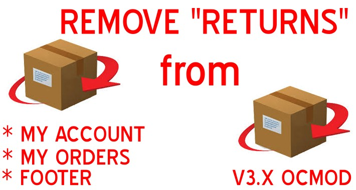 Remove Returns My Orders My Account Footer-OpenCart 3.x [OCMOD]