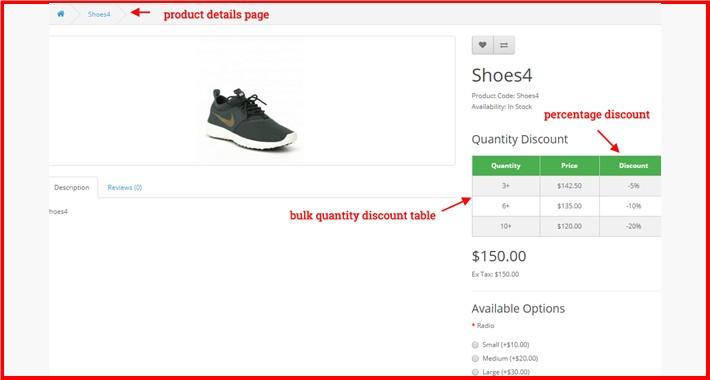 Bulk Quantity Discount $ OR %
