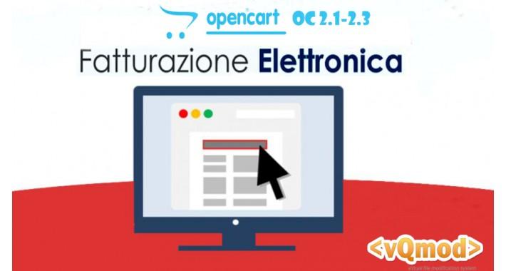 Opencart Fatturazione Elettronica Codice Destinatario  OC 2.3