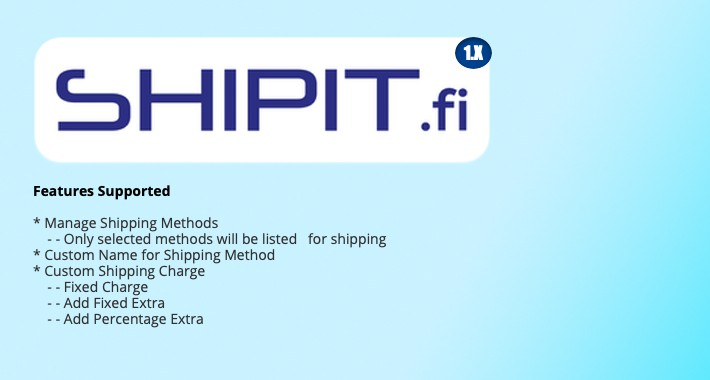 Shipit.fi Shipping Extension For Opencart