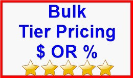 Bulk Tier Pricing $ OR %