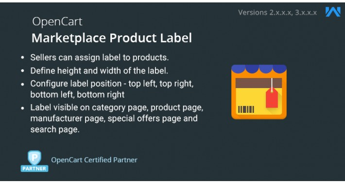 OpenCart - Opencart Marketplace Product Label