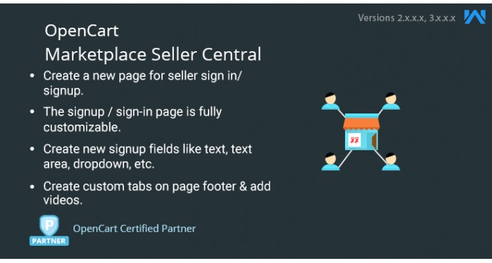 Opencart Marketplace Seller Central