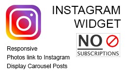 Simple Instagram Widget ( Сarousel )