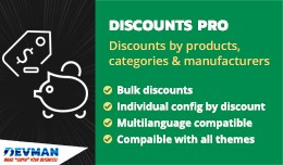 Discounts PRO - Discounts products, categories, ..