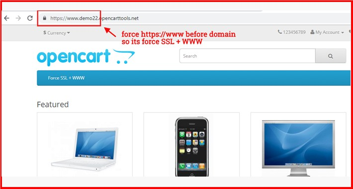 OpenCart - Force SSL + WWW