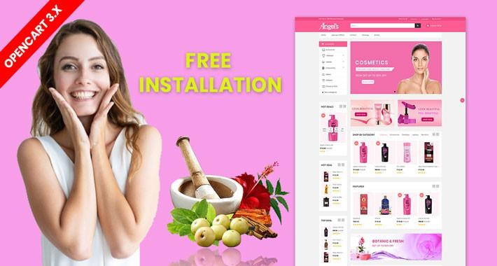 Angel Beauty & Cosmetics Theme Opencart 3.x
