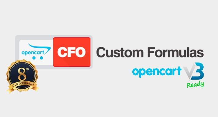 CFO Custom Formulas for OpenCart 3 (Updated!)