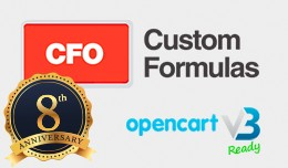 CFO Custom Formulas 2019 for OpenCart 3 (New Upd..