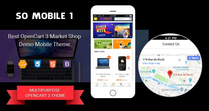 OpenCart - SO Mobile 1 - Reponsive OpenCart 3 Theme for