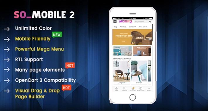 SO Mobile 2 - Multipurpose Mobile OpenCart 3 Theme