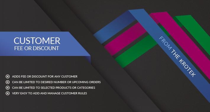 Customer Fee or Discount