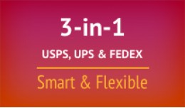 3-in-1 USPS Stamps, FedEx, UPS Smart & Flexi..