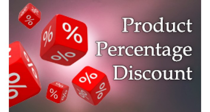 Product Percentage Discount OC 2.x - 3.x