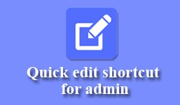 Admin Shortcuts like WordPress admin Toolbar