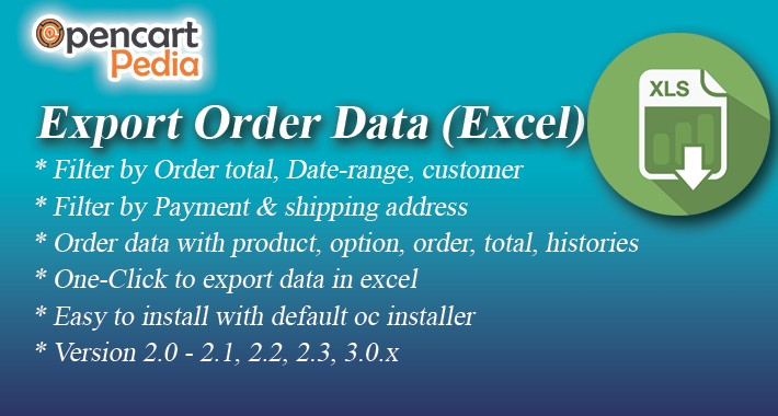 Opencart Order Export To Excel
