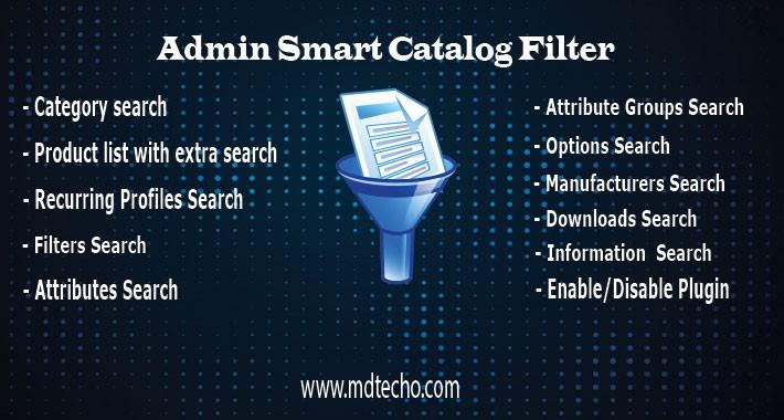 Admin Smart Catalog Filter