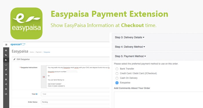Easy Paisa Payment Extension