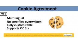 MULTILINGUAL Cookie agreement module PRO