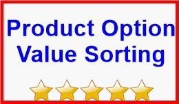 Product Option Value Sorting