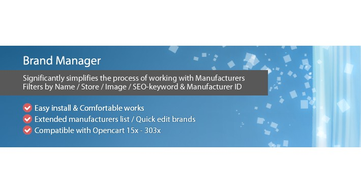 Brand Manager - Improved admin Manufacturer list