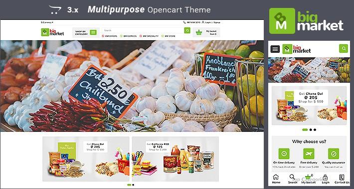 Bigmarket - Multipurpose Responsive Opencart  3.x