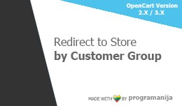 Redirect User to Store by Customer Group