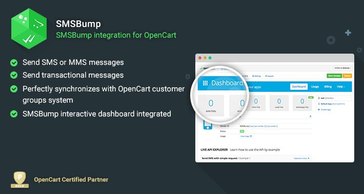 OpenCart - SMSBump - Send Transactional and Marketing SMS
