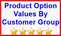 Product Option Values By Customer Group