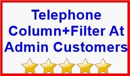 Telephone Column+Filter At Admin Customers