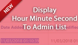 Display Hour Minute Second To Admin List
