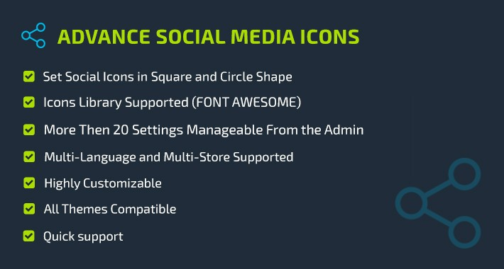 Advance Social Media Icons