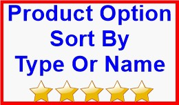 Product Option Sort By Type Or Name