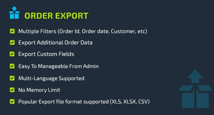 Order Export Suite