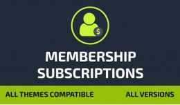 Customer Membership Subscriptions