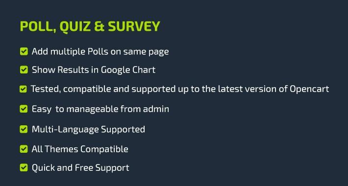 Poll, Survey, Quiz