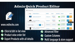Admin Quick Product Editor