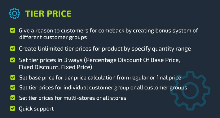 Tier Price - Product Discount based On Quantity Rules