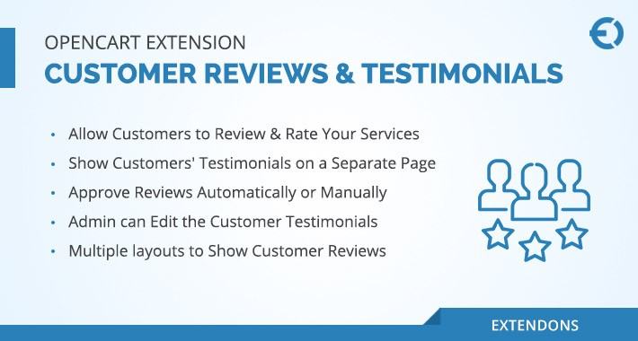 OpenCart Customer Reviews & Testimonials Extension